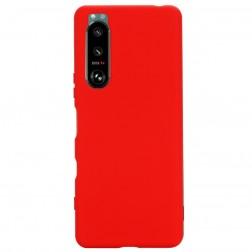 """Shell"" cieta silikona (TPU) apvalks - sarkans (Xperia 5 III)"