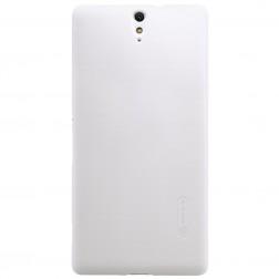 """Nillkin"" Frosted Shield apvalks - balts + ekrāna aizsargplēve (Xperia C5 Ultra)"