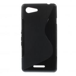 Cieta silikona futrālis - melns (Xperia E3)