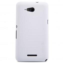 """Nillkin"" Frosted Shield apvalks - balts + ekrāna aizsargplēve (Xperia E4g)"
