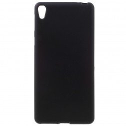 Cieta silikona (TPU) apvalks - melns (Xperia E5)