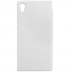"""""""Nillkin"""" Frosted Shield apvalks - balts + ekrāna aizsargplēve (Xperia M4 Aqua)"""