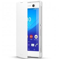 """Sony"" Style Cover Stand atvērams maciņš - balts (Xperia M5)"