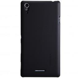 """Nillkin"" Frosted Shield apvalks - melns + ekrāna aizsargplēve (Xperia T3)"