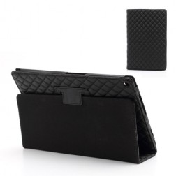 Stilīgs atvērams futrālis - melns (Xperia Tablet Z)