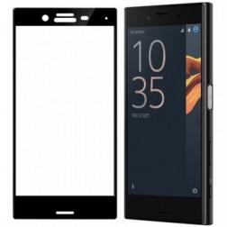 """""""Calans"""" Tempered Glass pilnīgi aizsedzams ekrāna aizsargstikls 0.2 mm - melns (Xperia X Compact)"""