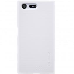 """Nillkin"" Frosted Shield apvalks - balts + ekrāna aizsargplēve (Xperia X Compact)"