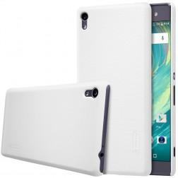 """""""Nillkin"""" Frosted Shield futrālis - balts + ekrāna aizsargplēve (Xperia XA Ultra)"""