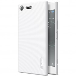 """Nillkin"" Frosted Shield futrālis - balts + ekrāna aizsargplēve (Xperia XZ Premium)"