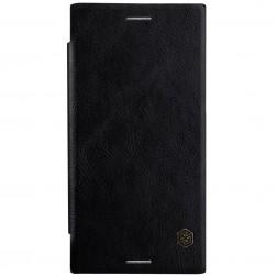 """Nillkin"" Qin atvēramais maciņš - melns (Xperia XZ Premium)"