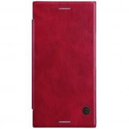 """Nillkin"" Qin atvēramais maciņš - sarkans (Xperia XZ Premium)"