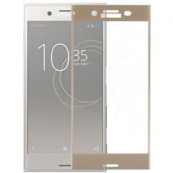 """""""Calans"""" Tempered Glass pilnīgi aizsedzams ekrāna aizsargstikls 0.2 mm - zelta (Xperia XZ1)"""