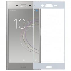 """""""Calans"""" Tempered Glass pilnīgi aizsedzams ekrāna aizsargstikls 0.2 mm - balts (Xperia XZ1)"""
