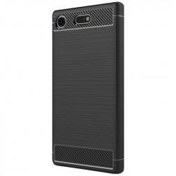 """""""Carbon"""" cieta silikona (TPU) apvalks - melns (Xperia XZ1 Compact)"""