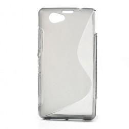 Cieta silikona (TPU) apvalks - dzidrs, pelēks (Xperia Z1 compact)