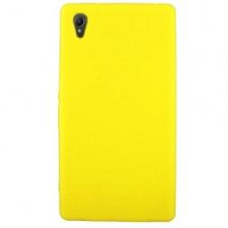 Cieta silikona futrālis - dzeltens (Xperia Z1)