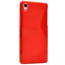 """S-Line"" cieta silikona (TPU) apvalks - sarkans (Xperia Z1)"