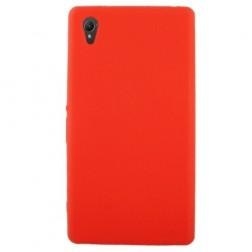 Cieta silikona futrālis - sarkans (Xperia Z1)