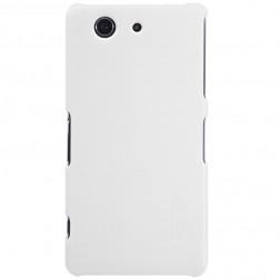 """Nillkin"" Frosted Shield futrālis - balts + ekrāna aizsargplēve (Xperia Z3 Compact)"