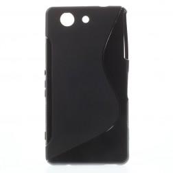 Cieta silikona futrālis - melns (Xperia Z3 Compact)
