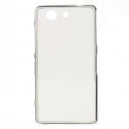 Planākais TPU dzidrs apvalks - pelēks (Xperia Z3 Compact)