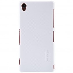 """Nillkin"" Frosted Shield apvalks - balts + ekrāna aizsargplēve (Xperia Z3)"