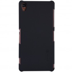 """Nillkin"" Frosted Shield apvalks - melns + ekrāna aizsargplēve (Xperia Z3)"