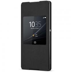 """Sony"" Style Cover Window atvērams maciņš - melns (Xperia Z3+)"