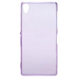 Cieta silikona (TPU) dzidrs apvalks - violeta (Xperia Z3)
