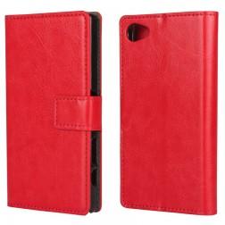 Atvēramais maciņš - sarkans (Xperia Z5 Compact)