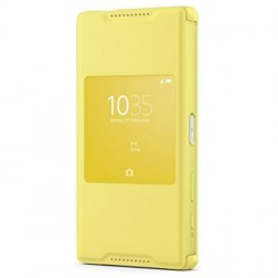 """""""Sony"""" Style Cover Window atvērams maciņš - dzeltens (Xperia Z5 Compact)"""