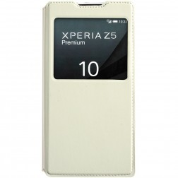 """""""Kalaideng"""" Sun atvēramais maciņš - balts (Xperia Z5 Premium)"""