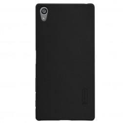 """Nillkin"" Frosted Shield apvalks - melns + ekrāna aizsargplēve (Xperia Z5 Premium)"