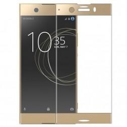 """Calans"" Tempered Glass pilnīgi aizsedzams ekrāna aizsargstikls 0.2 mm - zelta (Xperia XZ1 Compact)"