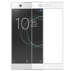 """Calans"" Tempered Glass pilnīgi aizsedzams ekrāna aizsargstikls 0.2 mm - balts (Xperia XZ1 Compact)"