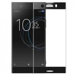 """Calans"" Tempered Glass pilnīgi aizsedzams ekrāna aizsargstikls 0.2 mm - melns (Xperia XZ1 Compact)"