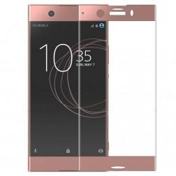 """""""Calans"""" Tempered Glass pilnīgi aizsedzams ekrāna aizsargstikls 0.2 mm - rozs (Xperia XZ1 Compact)"""