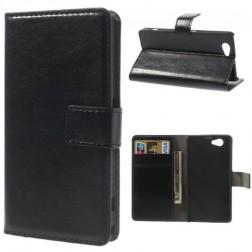 Atvēramais futrālis - melns (Xperia Z1 compact)
