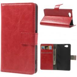 Atvēramais futrālis - sarkans (Xperia Z1 compact)