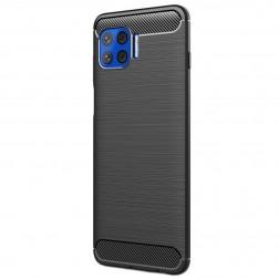 """""""Carbon"""" cieta silikona (TPU) apvalks - melns (Moto G 5G Plus)"""