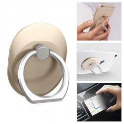 """""""Ring"""" telefona autoturētājs - zelta"""