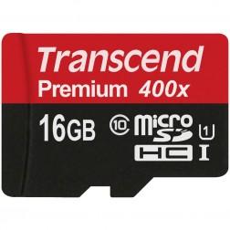 """Transcend"" Premium 400x MicroSD atmiņas karte - 16 Gb (10 Klase)"