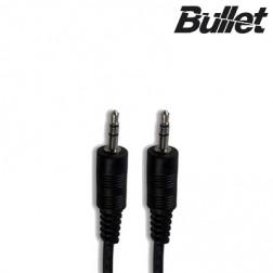 """Bullet"" 3.5mm AUX stereo audio vads - melns (1 m.)"