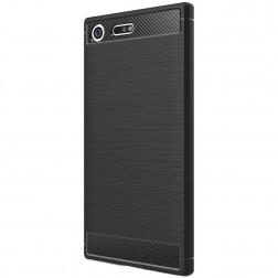 """""""Carbon"""" cieta silikona (TPU) apvalks - melns (XZ Premium)"""