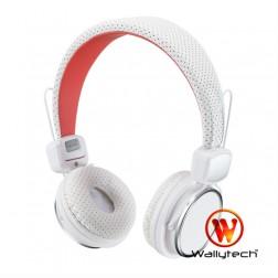"""""""Wallytech"""" austiņas ar galvas stīpu - baltā"""