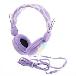 """""""Wallytech"""" austiņas ar galvas stīpu - violētas"""