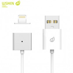 """Wsken"" X-Cable Metal magnētisks lightning USB vads - balts (1 m.)"