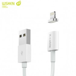 """Wsken"" X-Cable Mini magnētisks lightning USB vads - balts (1 m.)"