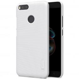 """""""Nillkin"""" Frosted Shield apvalks - balts + ekrāna aizsargplēve (Mi A1 / Mi 5X)"""