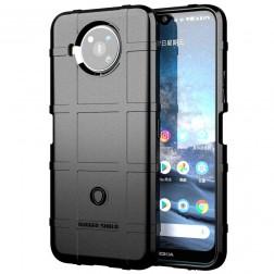 """""""Stiff"""" cieta silikona (TPU) apvalks - melns (Nokia 8.3)"""